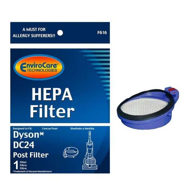 EnviroCare Replacement Post-Motor HEPA Filter for Dyson DC-24