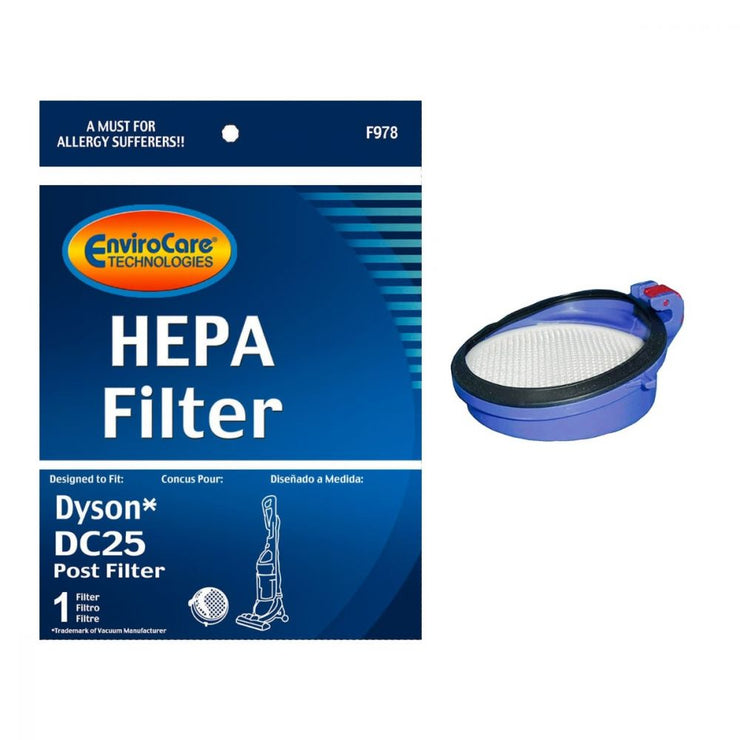EnviroCare Replacement Post Motor HEPA Filter for Dyson DC25 Vacuum Cleaner