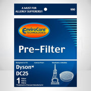 EnviroCare Replacement Pre-Motor HEPA Filter for Dyson DC25 Vacuum Cleaner