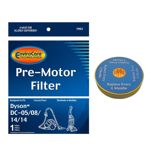 EnviroCare Replacement Pre-Motor HEPA Filter for Dyson DC5, DC8, & DC14