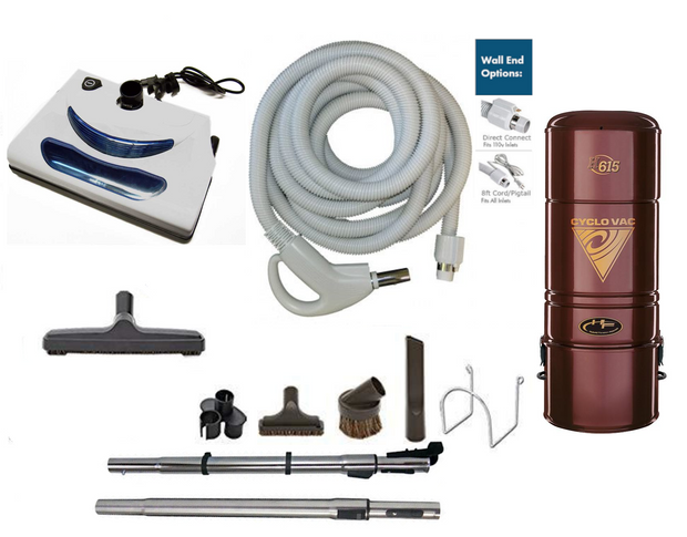 Cyclovac H615 Complete Central Vacuum Package with EL5 Power Head