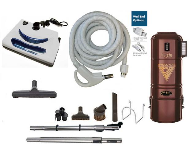 Cyclovac H725 Complete Central Vacuum Package with EL5 Power Head