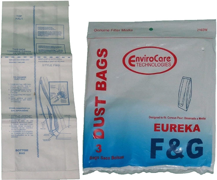 EnviroCare Replacement Eureka Style F & G Vacuum Cleaner Bags - 3 Pack