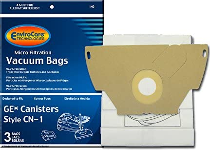 EnviroCare Vacuum Bags for Eureka 6850 Series and GE CN1 Bags - 3 Pack