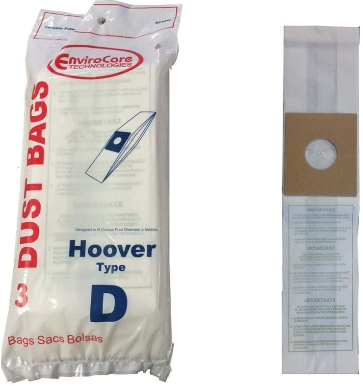 Hoover Type D Upright Vacuum Cleaner Bags - 3 Pack