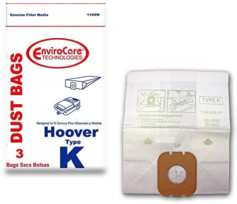 EnviroCare Vacuum Bags for Hoover Type K Canisters - 3 Pack