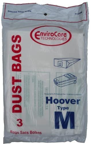 EnviroCare Vacuum Bags for Hoover Dimension Type M Canisters - 3 Pack