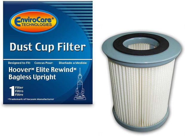 EnviroCare Round Pleated Dirt Cup Filter for Hoover U5507 Elite Rewind