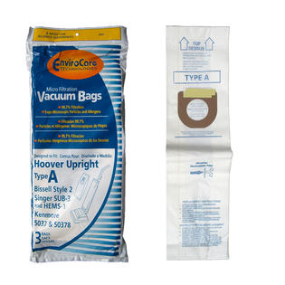 EnviroCare Replacement Vacuum Bags for Hoover Type A Vacuums - 3 Pack