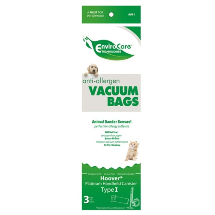 Envirocare Replacement Hoover Type I HEPA Vacuum Cleaner Bags