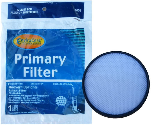 EnviroCare Replacement Primary Exhaust Filter for Hoover Upright Vacuum - F652