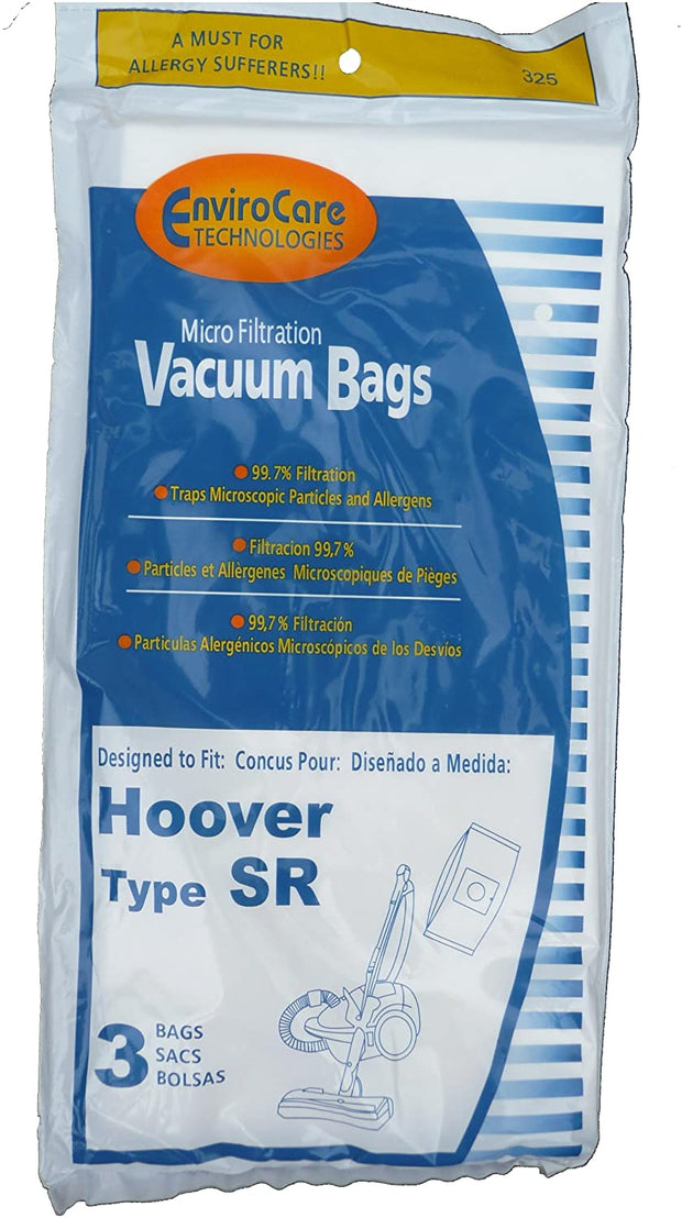 EnviroCare Vacuum Bags for Hoover Type SR Canisters - 3 Pack