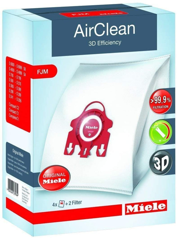 Miele Type FJM Vacuum Cleaner Bags with 2 Filters - 4 Pack