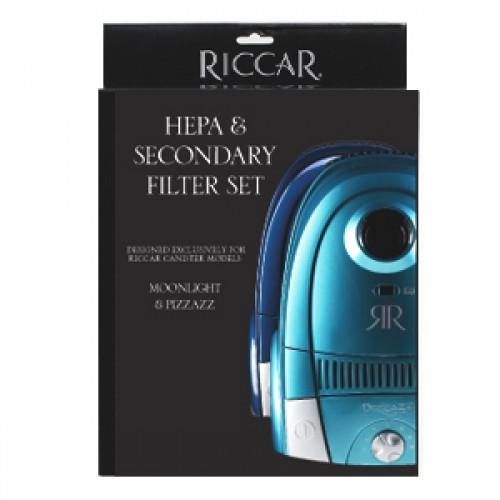 Riccar HEPA & Secondary Filter Set for Moonlight & Pizzazz - RF13