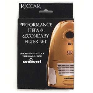 Riccar Sunburst HEPA, and charcoal filter set.