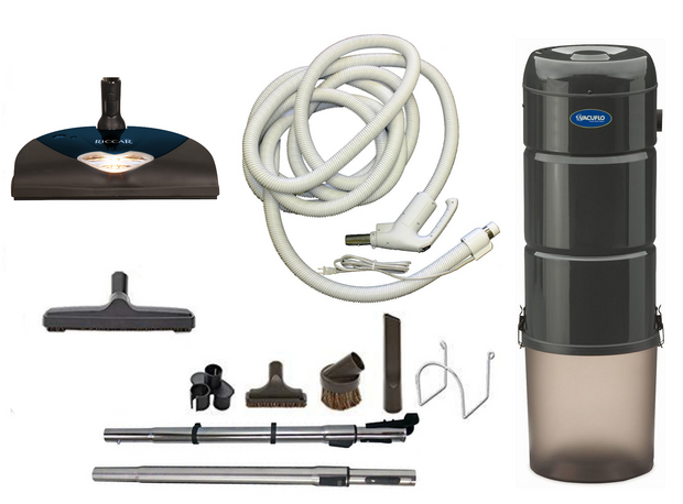 Vacuflo 566Q Complete Central Vacuum Package with Riccar L7 Power Head