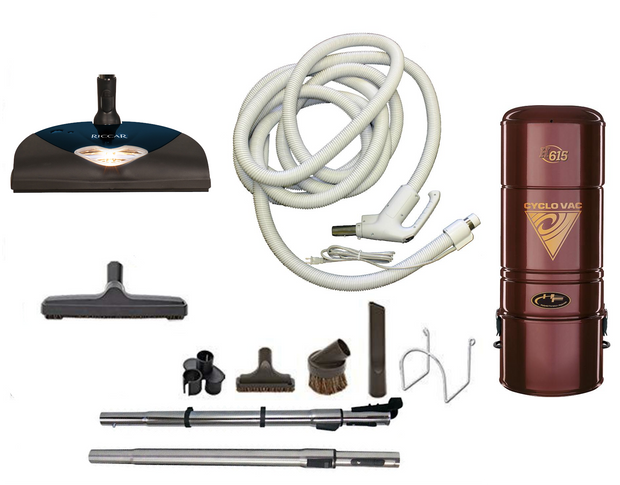 Cyclovac H615 Complete Central Vacuum Package with Riccar Power Head
