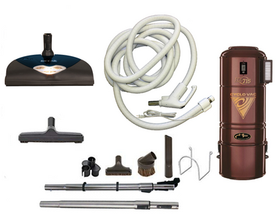 Complete Riccar Central Vacuum Package with H715 Power Unit