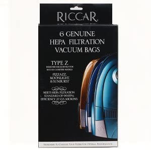 Riccar Type Z HEPA Vaccum Bags for Moonlight, Pizzazz, & Sunburst - 6 Pack