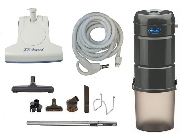 Vacuflo 260 Complete Central Vacuum Package with Turbocat Head