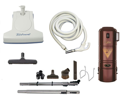 Complete Turbo Cat Central Vacuum Package with H2015 Power Unit
