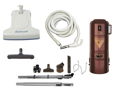 Complete Turbo Cat Central Vacuum Package with H715 Power Unit