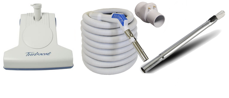 Vacuflo Turbocat Head & 35' TurboGrip Low Voltage Hose for Central Vacuum Systems
