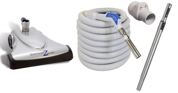 Vacuflo Turbocat Zoom & 35' TurboGrip Low Voltage Hose for Central Vacuum Systems
