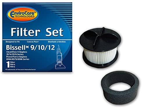 Envirocare Hepa Filter Set for Bissell Style 9, 10, & 12 Vacuums