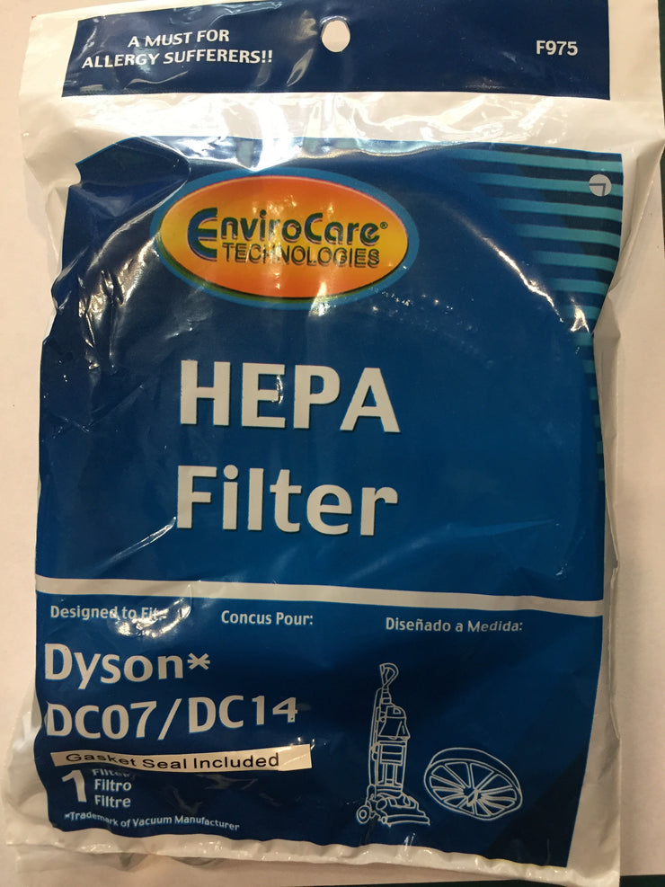 EnviroCare Post-Motor HEPA Filter for Dyson DC07/DC14 - Replaces 901420-02