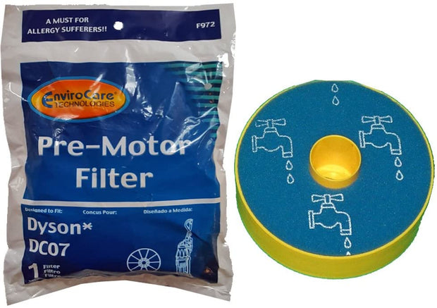 EnviroCare Replacement Dyson DC07 Pre-motor Filter - Replaces 904979-02