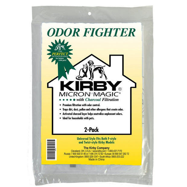 Kirby Odor Fighter Charcoal Filter Bag 2 Pack Disposable Vacuum