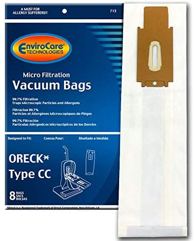 EnviroCare Vacuum Bags for Oreck Type CC Uprights - 8 Pack