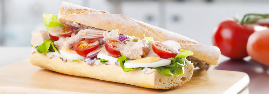 TUNA NICOISE BAGUETTE WITH BLACK OLIVE