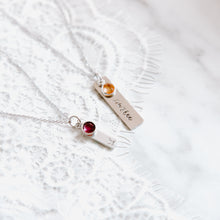Load image into Gallery viewer, Tiny Tags Monogram Necklace
