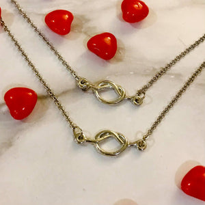 Love Knot - Mommy and Me Necklace set