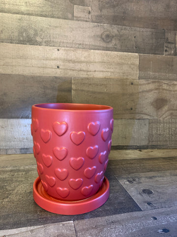Red Heart Pot