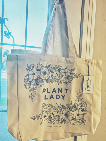 Plant Lady Canvas Tote