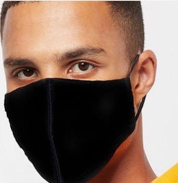 Adjustable Face Mask- 1 Ply Breathable Polyester Fabric Washable & Reusable- Ships in 3 Business Days