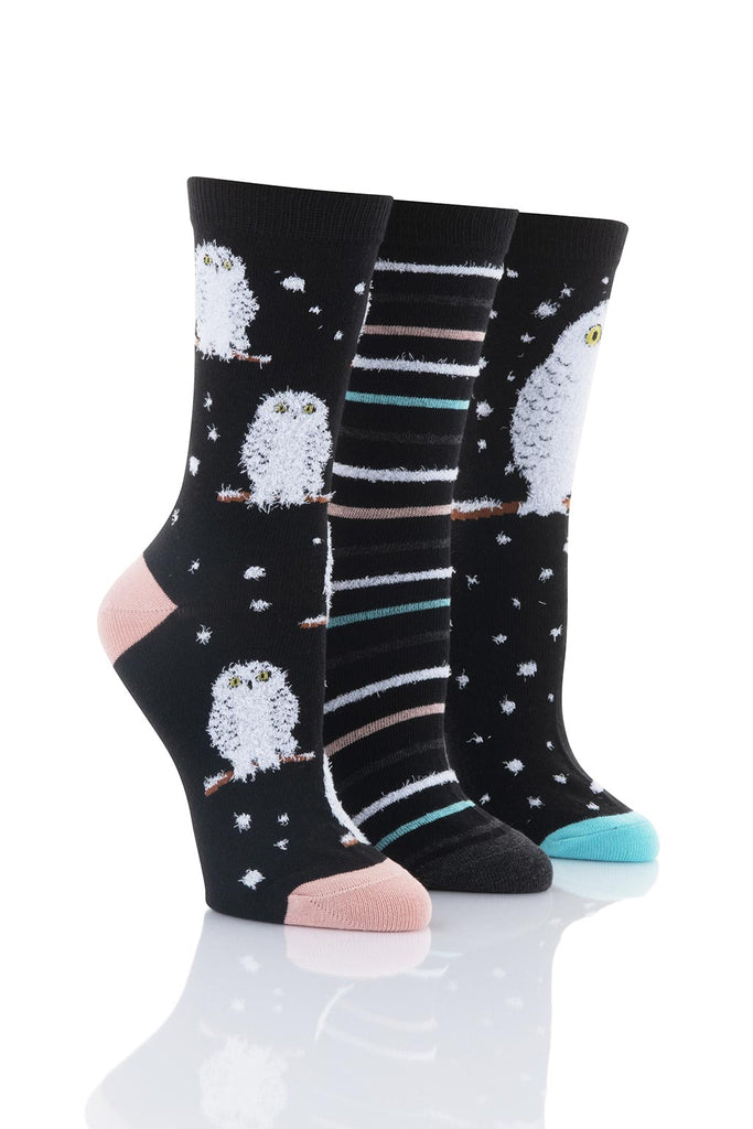 Ladies Snowy Owl Socks