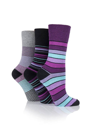 Ladies Mixed Black Stripes