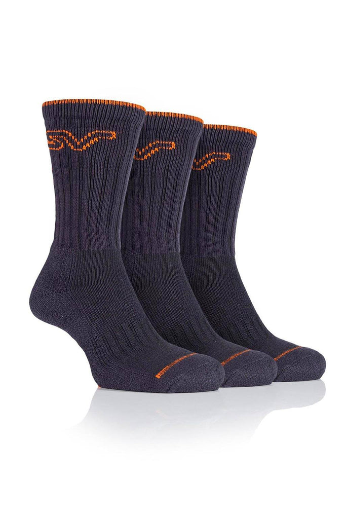 Men's Luxury Boot Socks - Charcoal/Amber, 3 Pair Pack