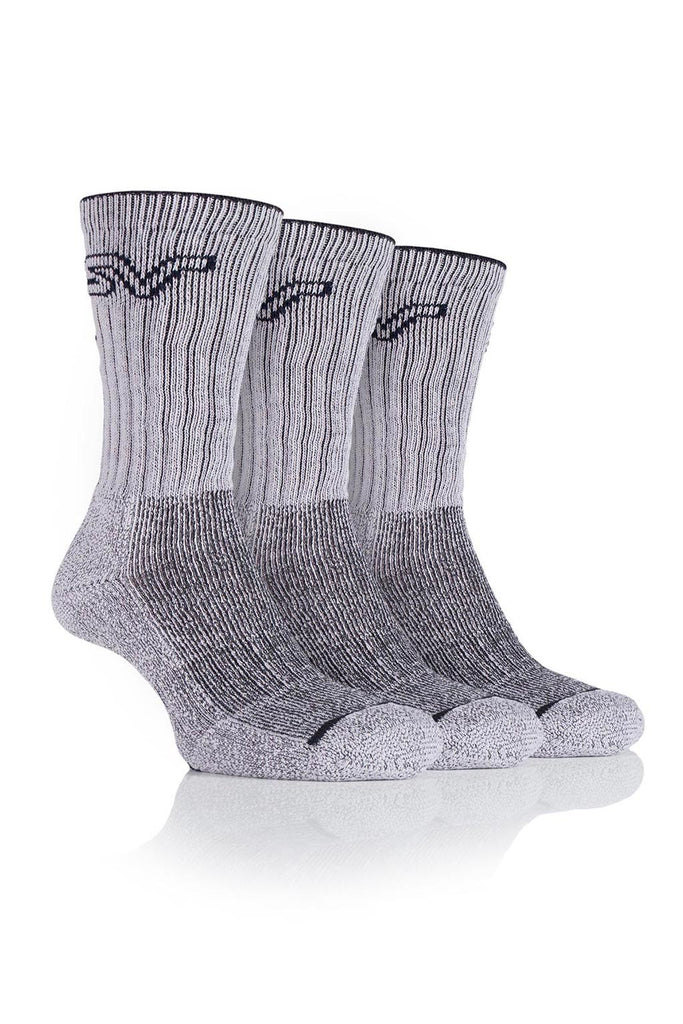 Men's Luxury Boot Socks - Stone/Charcoal, 3 Pair Pack