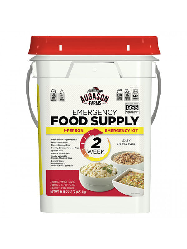Augason Emergency Food Pail - 140 servings for 2 weeks for 1 person