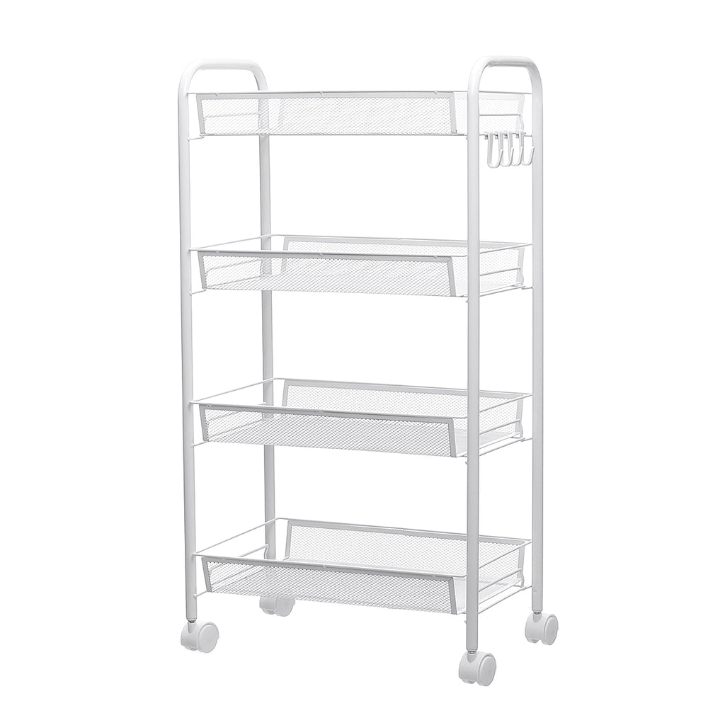 3/4/5 Tier Movable Stainless Shelf Kitchen Storage Rack Organizer Stand Holder