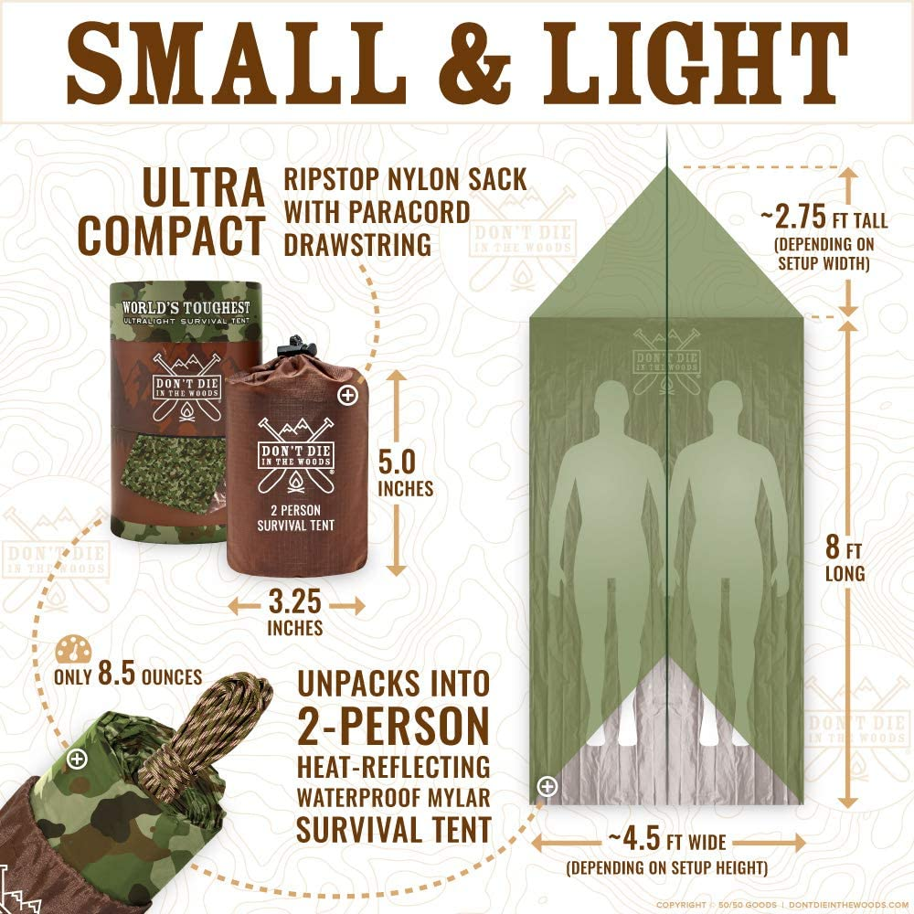 Don't Die In The Woods World's Toughest Ultralight Survival Tent