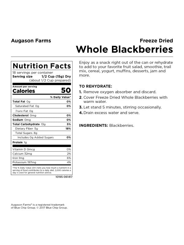 Freeze Dried Blackberries