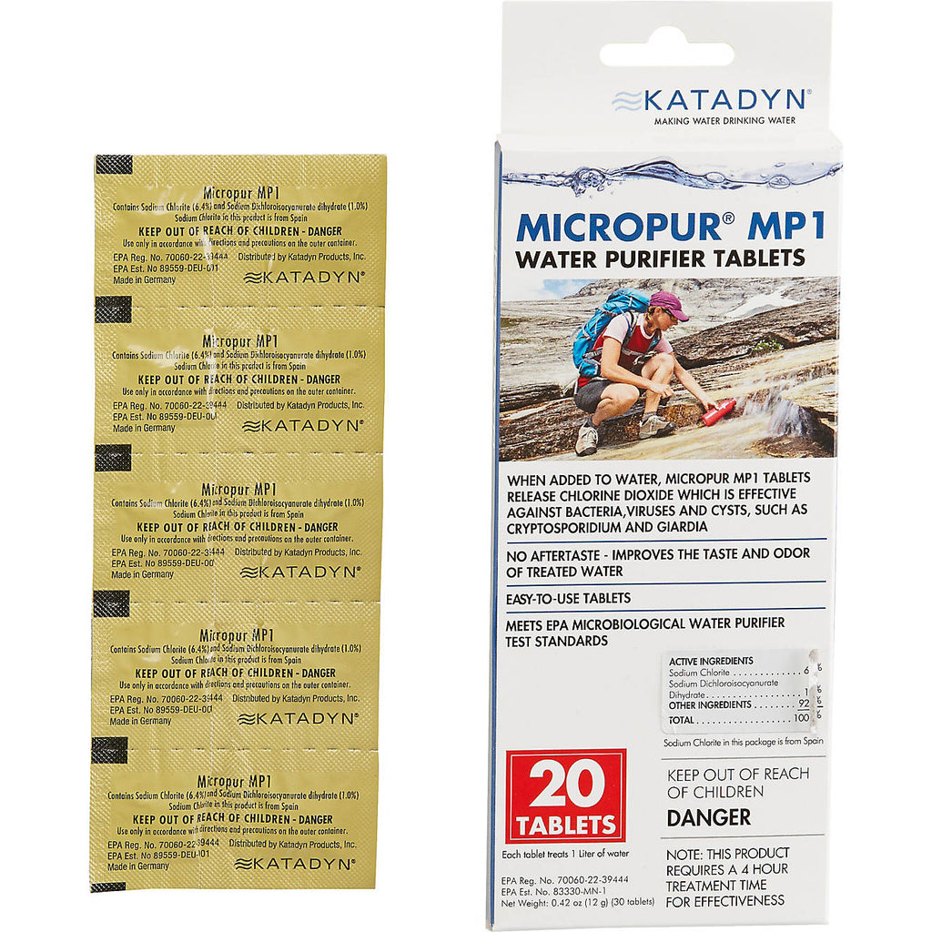 Katadyn Micropur MP1 Purification Tablets 20-Pack