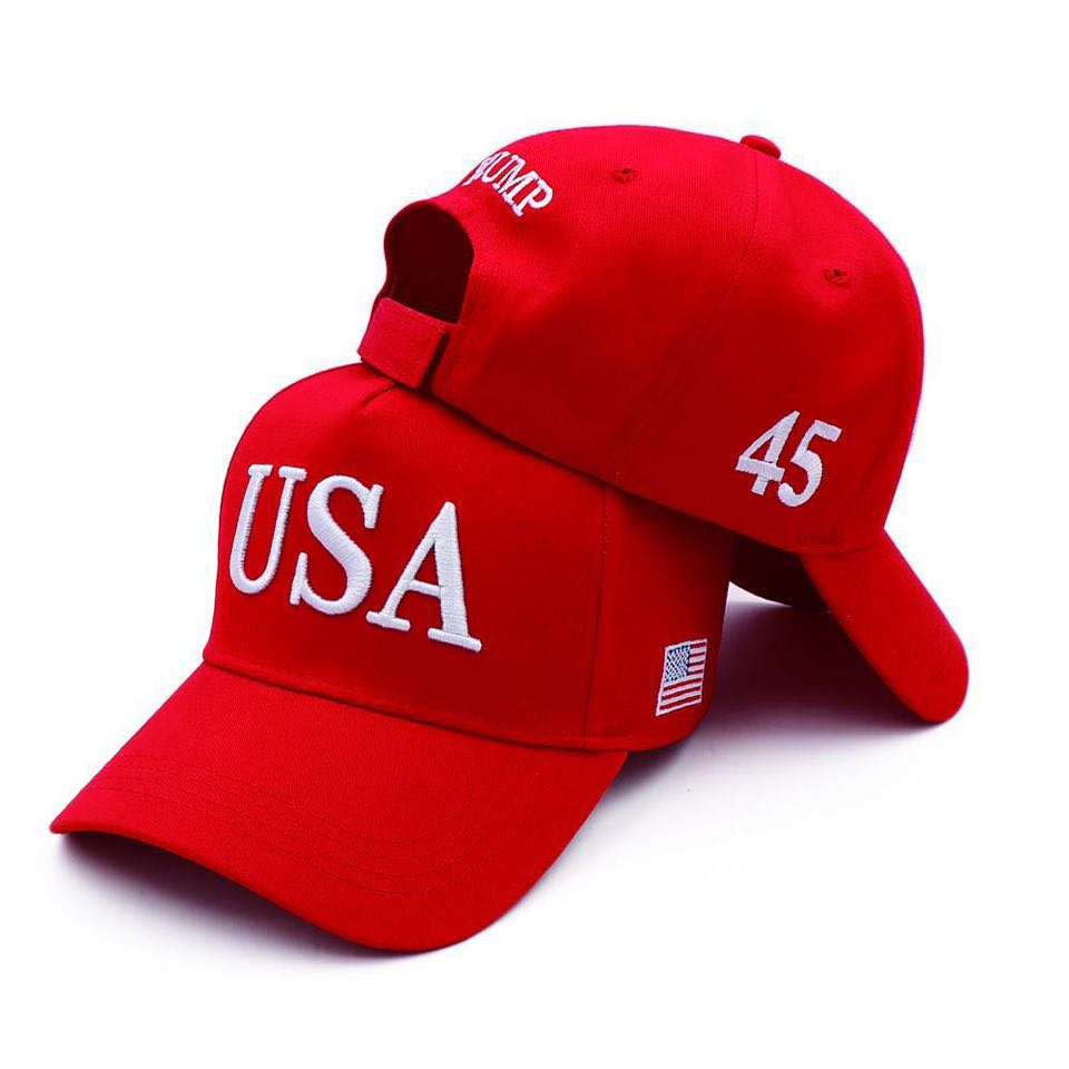 MAGA Hat Make America Great Again Donald Trump Slogan with USA Flag Cap Adjustable Baseball Hat Travel Caps
