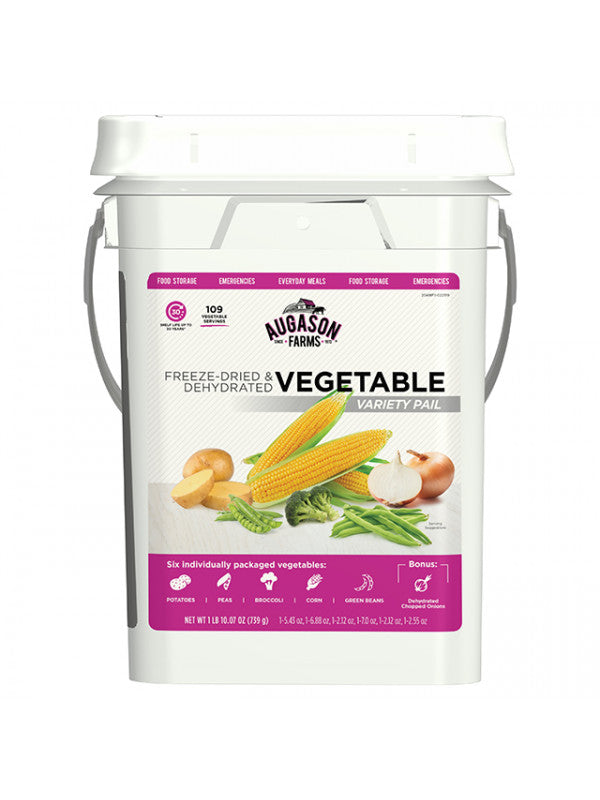 Freeze-Dried Vegetable Variety Pail